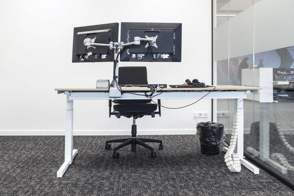 werkplek wit duo scherm