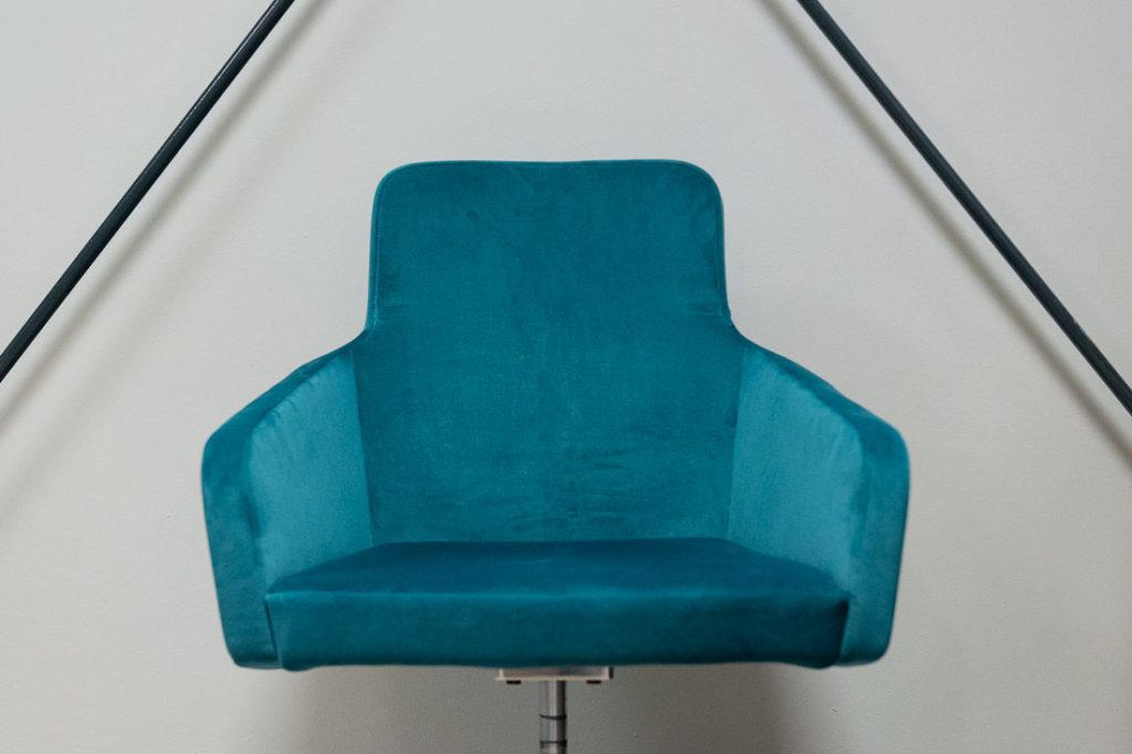stoel blauw