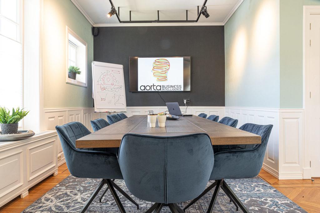 Overleg vergaderruimte bij Aorta Business Intelligence